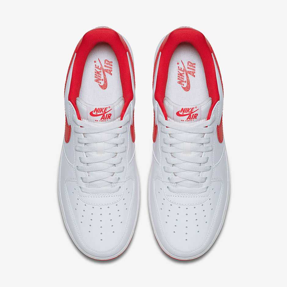 aa3a5643 Nike Air Force 1 Low QS. Color: Summit White/University Red Style Code:  845053-100. Advertisement