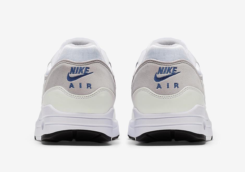 Air Max 1 Mens Chaussures De Course - Couleur Blanc / Bleu / Gris 0KwZrjXA5