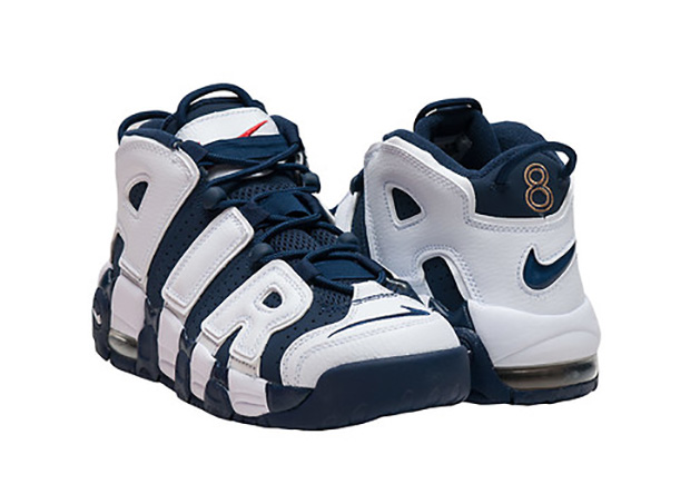"""Nike Air More Uptempo """"Olympic"""". Color  White Midnight Navy-Metallic  Gold-Sport Red Style Code  414962-401. Release Date  July 20th 09efa2084c7cb"""