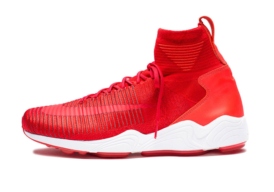 Nike Air Zoom Mercurial Flyknit. Color  University Red Dark Grey Price   200 0647d37a1df1