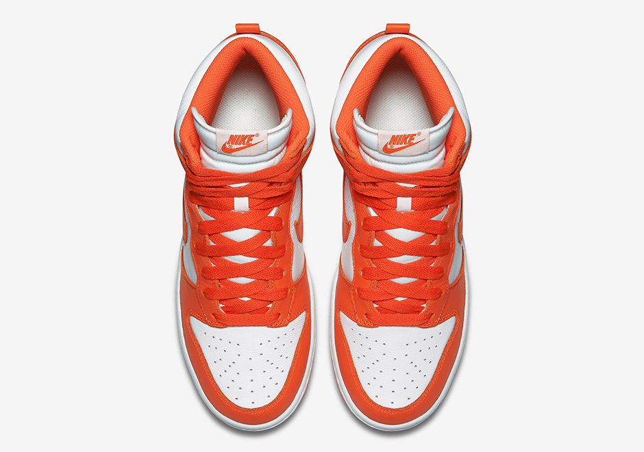 "first rate 7f92f e0d95 Nike Dunk High QS ""Syracuse"". Color WhiteTeam Orange-White Style Code  850477-101"