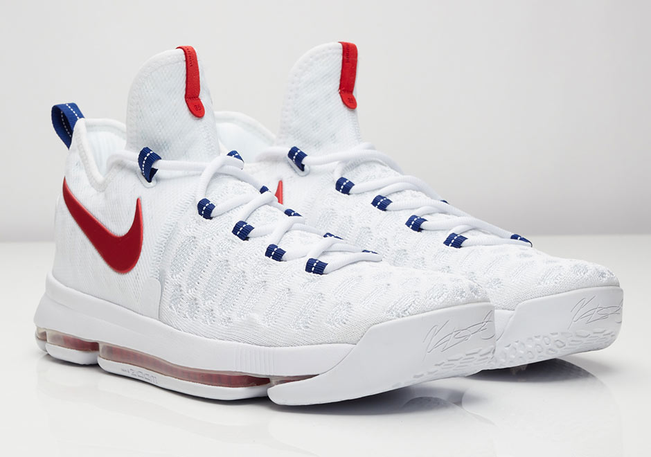 White Kevin Durant Basketball Shoes