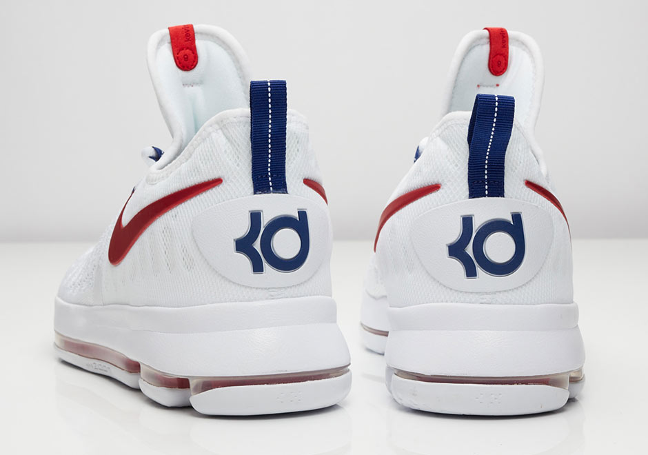 "reputable site 3777a 5d760 Nike KD 9 ""Premiere"". Color  White University Red-Racer Blue"