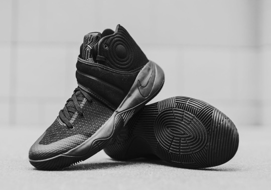"""Triple Black"" Nike Kyrie 2 Sneakers Release This Weekend"