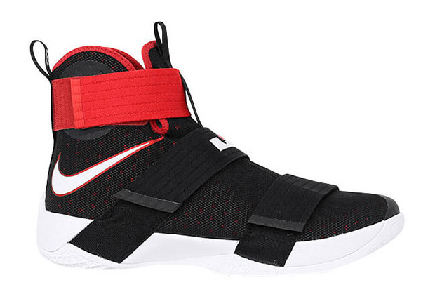 sports shoes 79e9c 3b15a Nike LeBron Soldier 10 Bred 844374-016   SneakerNews.com