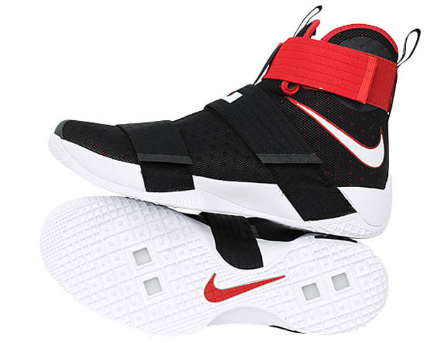 the latest 46125 02369 Nike LeBron Soldier 10 Bred 844374-016 | SneakerNews.com