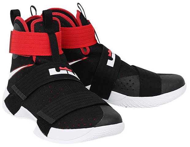 "huge selection of 5d302 fc764 Nike LeBron Soldier 10 ""Bred"""