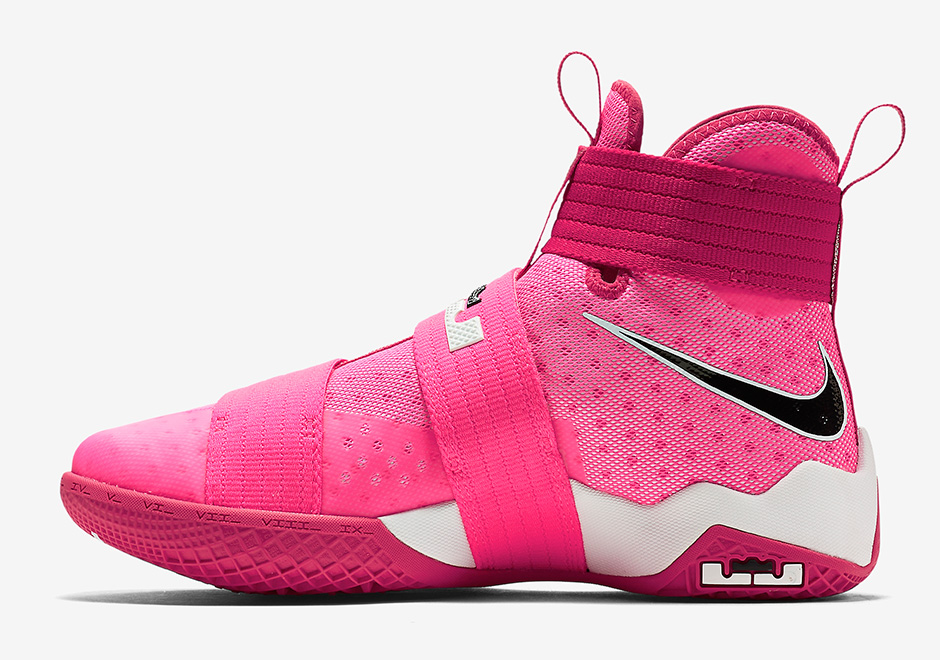"4a3c66d9164 Nike LeBron Soldier 10 ""Think Pink"". Color  Vivid Pink Black-Metallic Silver"