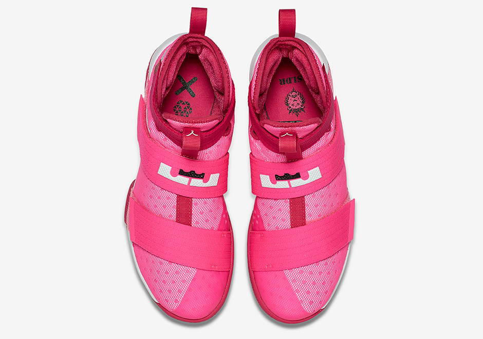 new style 2d075 83929 Nike LeBron Soldier 10 Think Pink 844375-606   SneakerNews.com