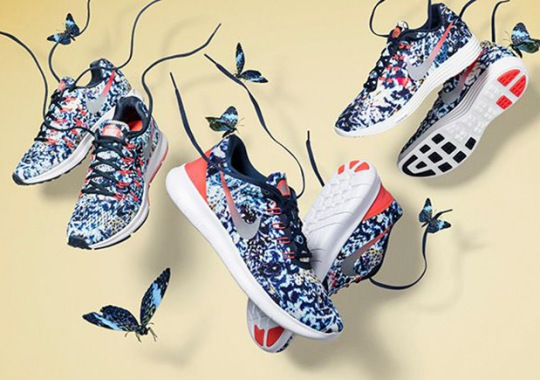 """Nike's Trio Of Latest Running Models Get A Floral """"Jungle"""" Look"""