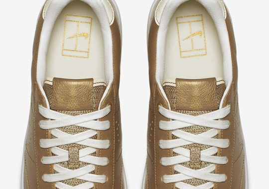 Nike Releases Two Golden Tennis Classic Ultras Inspired By Wimbledon