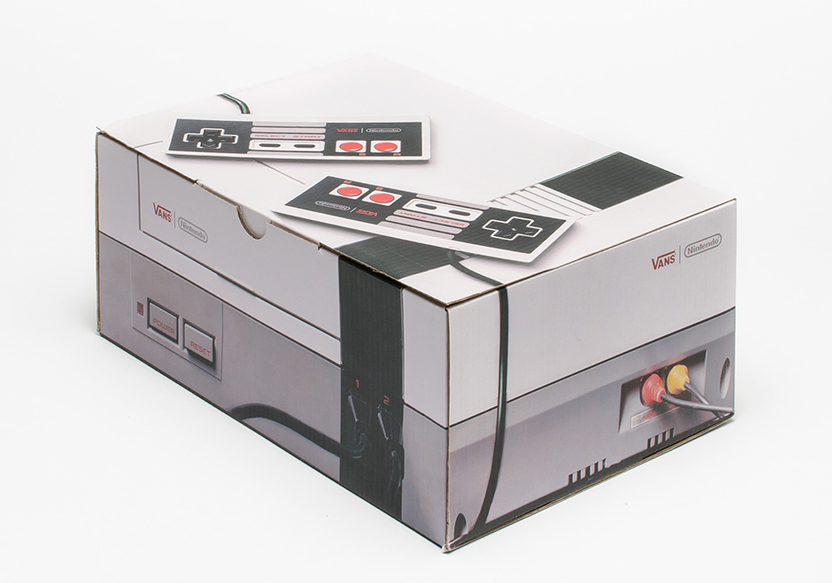vans x nintendo. the vans x nintendo shoebox looks just like original console m