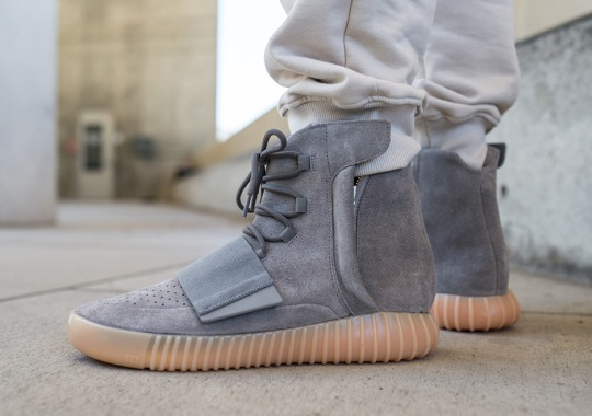 "Here's What The adidas Yeezy Boost 750 ""Grey/Gum"" Looks Like On-Feet"