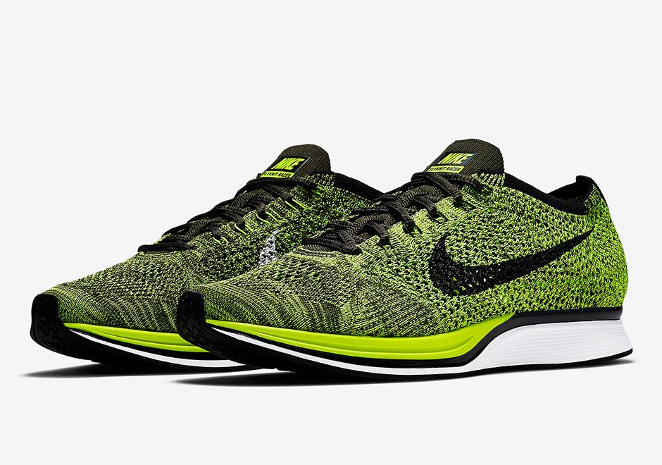 8f30a2d05c00 Nike Flyknit Racer Volt Black 526628-731