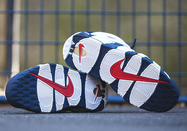 """Nike Air More Uptempo """"Olympic"""". Color  White Midnight Navy-Metallic  Gold-Sport Red Style Code  414962-104. Release Date  7 20 2016. Price   160 56dba85f0f6ac"""