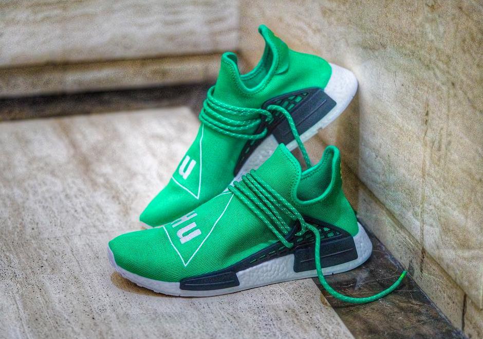 "Pharrell Has A Green adidas ""Hu NMD"" Coming Soon"