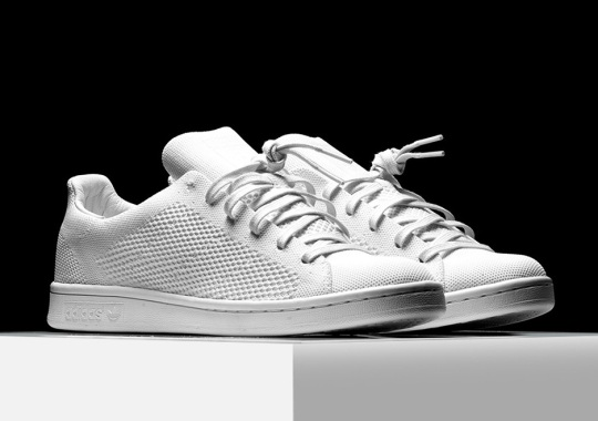Triple White adidas Stan Smiths Release In Pure Primeknit
