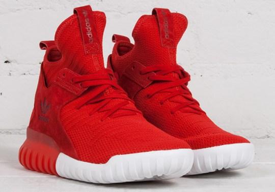 adidas Tubular X Primeknit In Scarlet Red