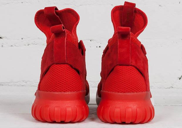 size 40 d357a 3007a adidas Tubular x Primeknit Scarlet S80129 | SneakerNews.com