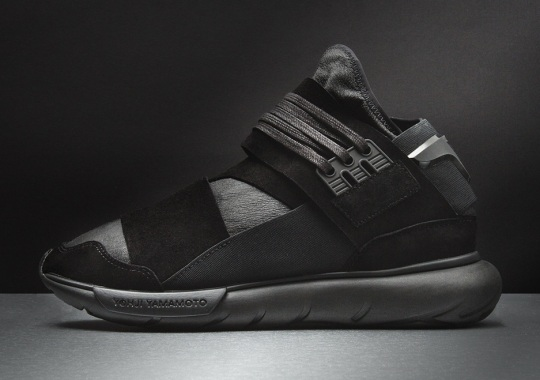"""The adidas Y-3 Qasa Hi """"Triple Black"""" Now Features Leather"""
