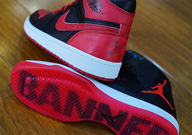 ad68577f560fb6 ... Side By Side Comparison Of The Banned Air Jordan 1 And Air Jordan 31 ...