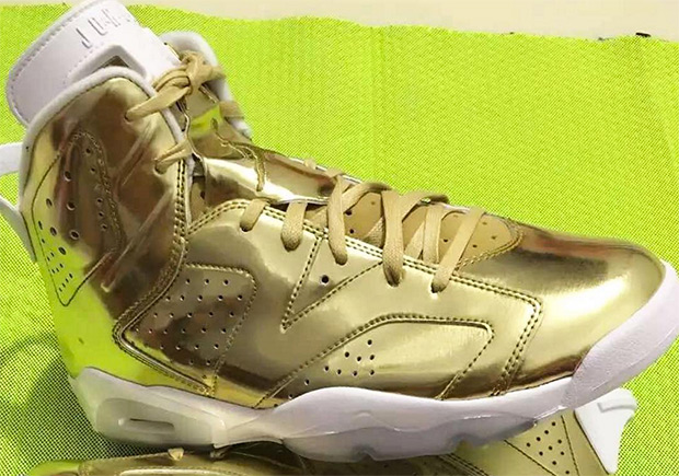 Air Jordan 6 Pinnacle Gold New Look