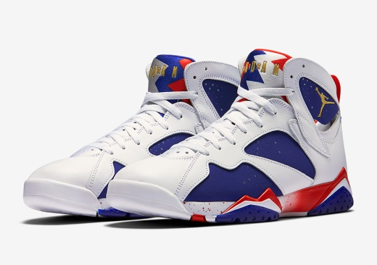"""lowest price db965 9c277 Official Images Of The Air Jordan 7 """"Olympic Alternate"""""""