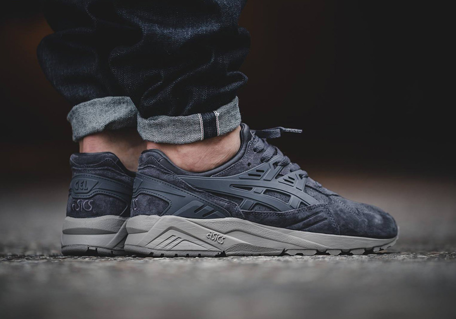 Asics Gel Kayano Trainer Suede Dark Grey Sneakernews Com