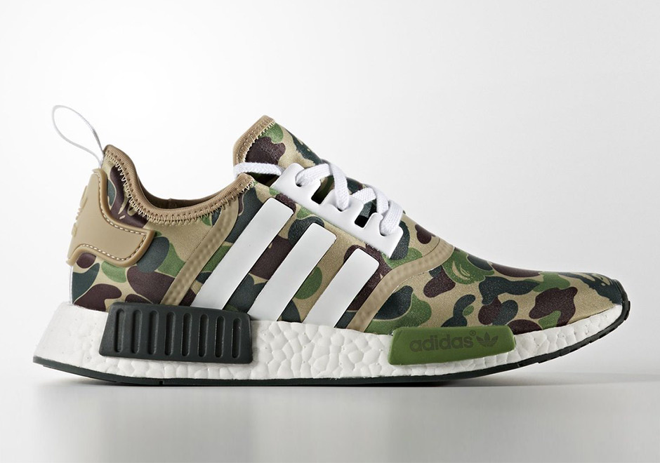 First Look at the BAPE x adidas NMD
