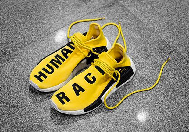 """The adidas NMD continues to expand its head-turning catalog with the help  of style icon Pharrell. The latest collaborative colorway is known as the """" Human ... 6c91546ac"""