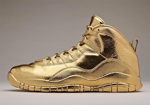 Drake Has Solid Gold Air Jordan 10 OVOs