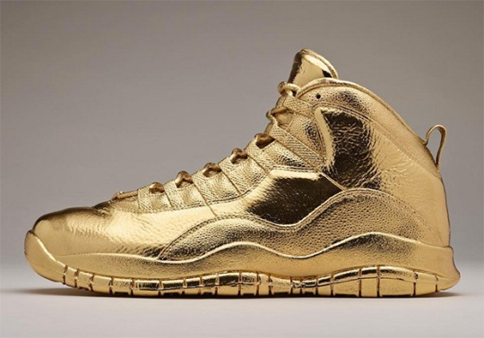 Drake Has Solid Gold Air Jordan 10 OVOs