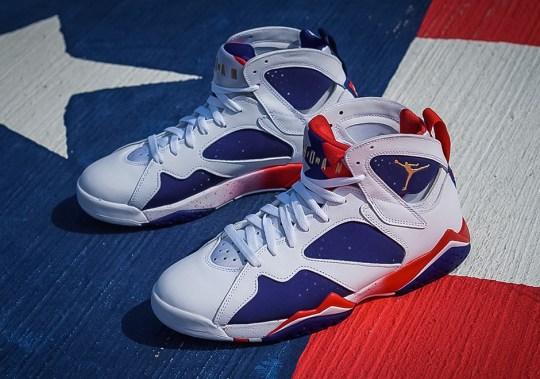 "Tinker Hatfield's Alternate Design For The Air Jordan 7 ""Olympic"" Releases Soon"