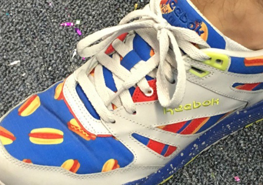 Matt Stonie Wears Hot Dog Reebok Shoes To Defend Nathan's Hot Dog Eating Championship