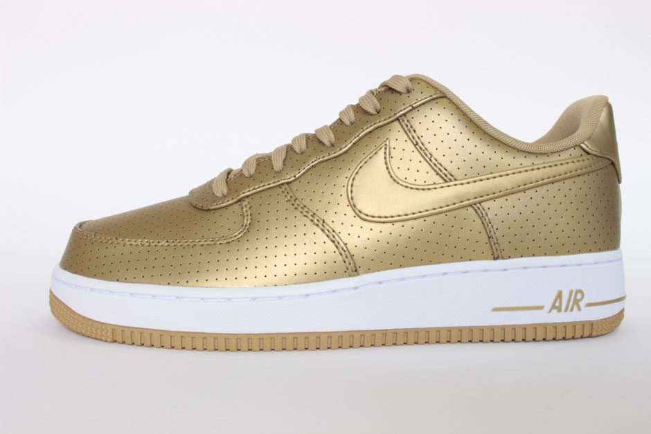 nike air force 1 weiß gold