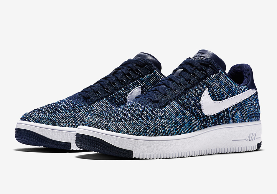 The Nike Air Force 1 Flyknit Comes In Navy