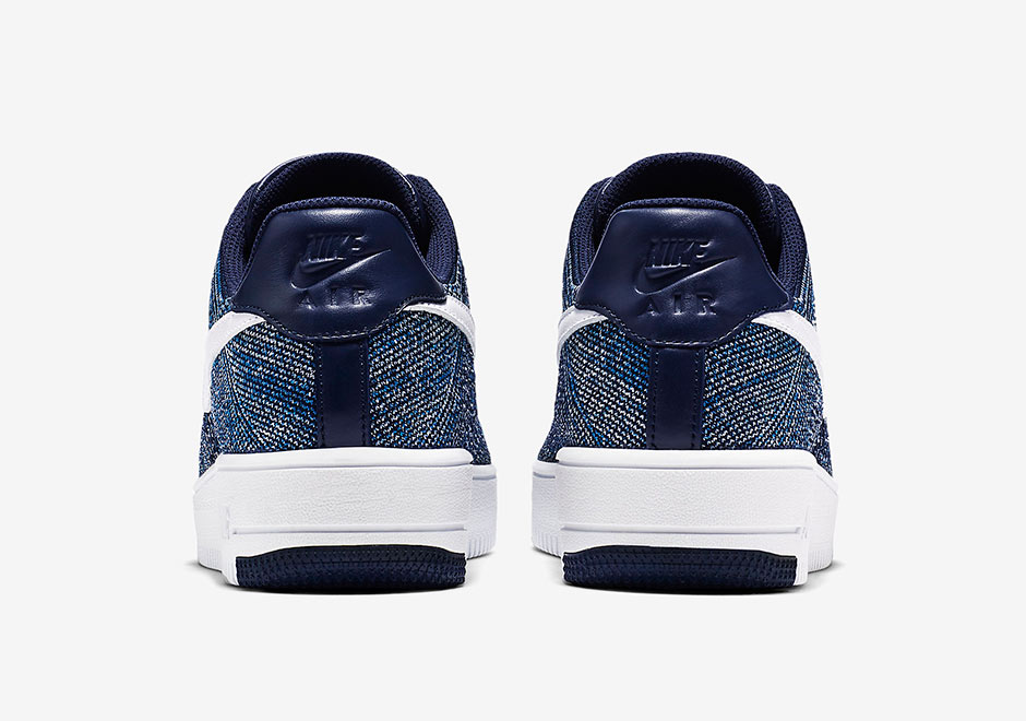 d2b3ac996193 nike air force 1 flyknit low navy