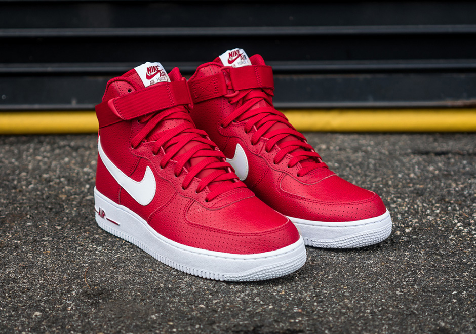 Nike Air Force 1 High Gym Red Perforated 315121 606
