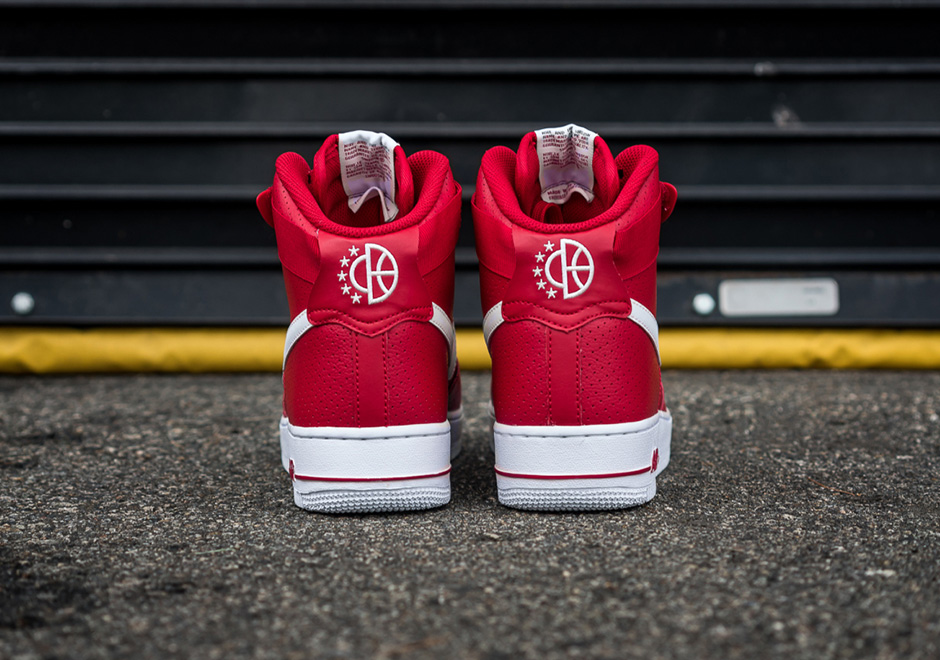 f2c23248b4e38 best Nike Air Force 1 High Gym Red Perforated 315121-606 ...
