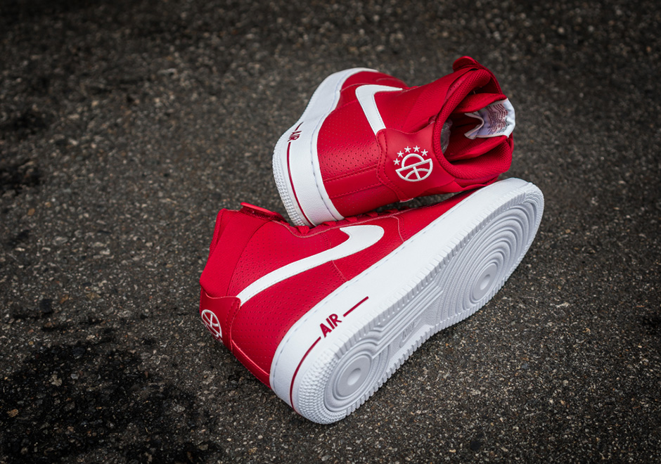 air force one high men nike air force 1 high 07 gym red