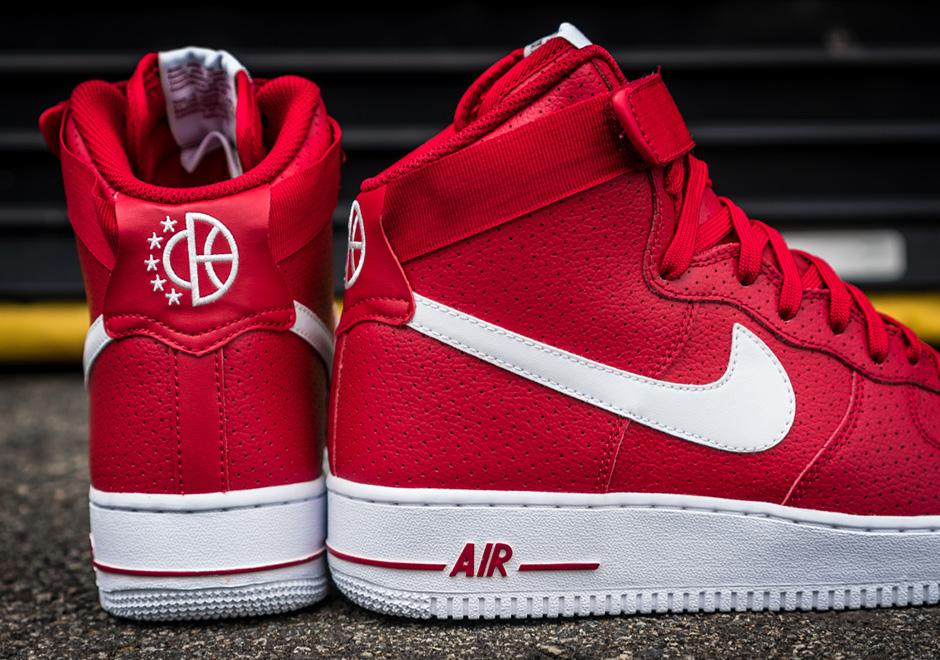 Nike Zapatos De Los Hombres De La Fuerza Aérea 1 Rojo 2 JtOlKMIZ