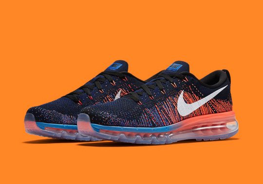 This New Nike Flyknit Air Max Seems To Have New York Sports Fans In Mind