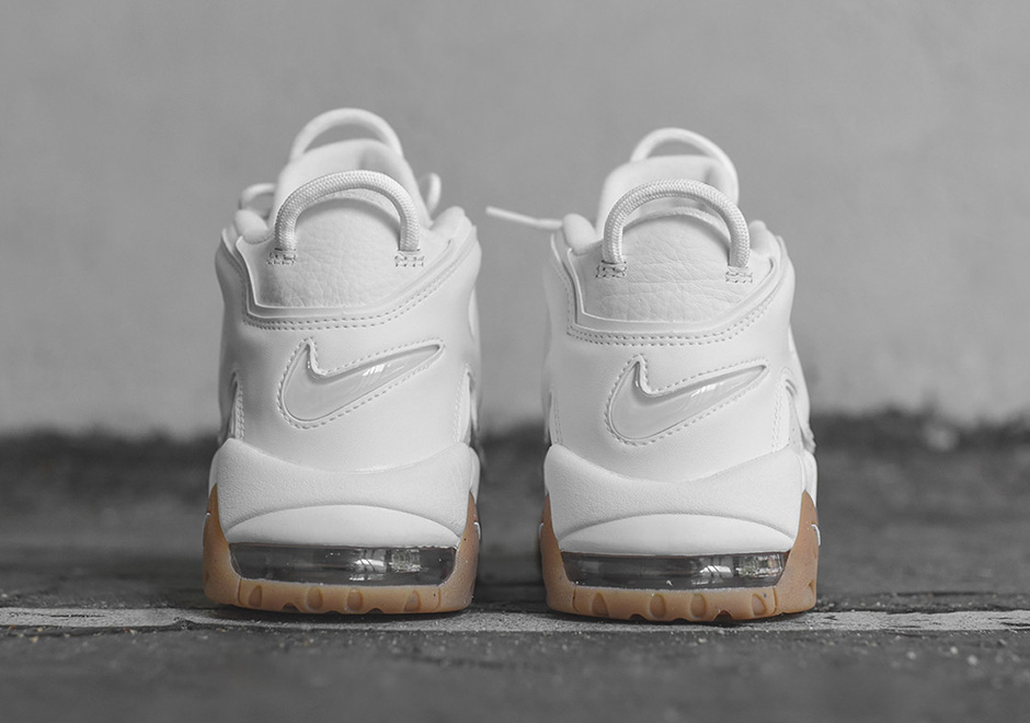 Nike Air More Uptempo. Color  White White-Gum Light Brown Style Code   414962-103. Price   160 b714adbc614a