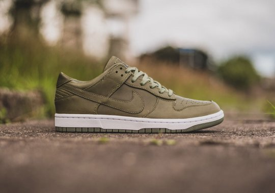 "NikeLab's Dunk Lux Comes In ""Urban Haze"" Green"
