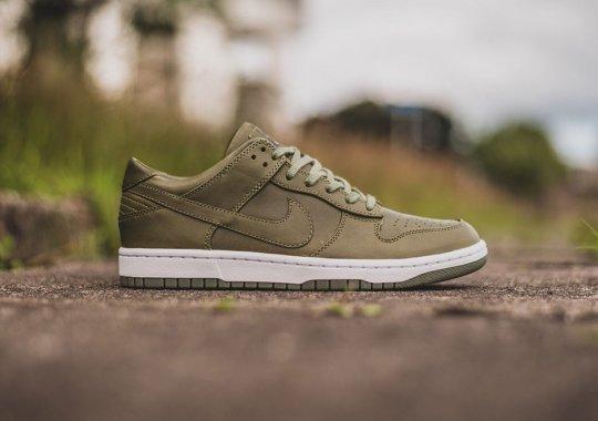 "NikeLab's Dunk Lux Comes In ""Urban Haze"" Green"