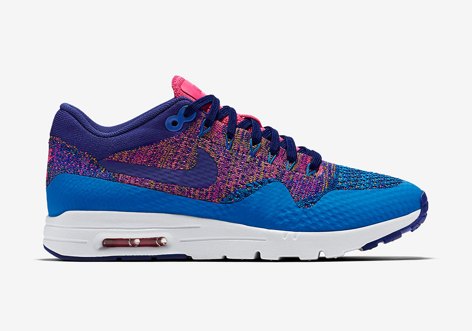 Nike Air Max 1 Ultra Flyknit Womens Photo BluePink Blast