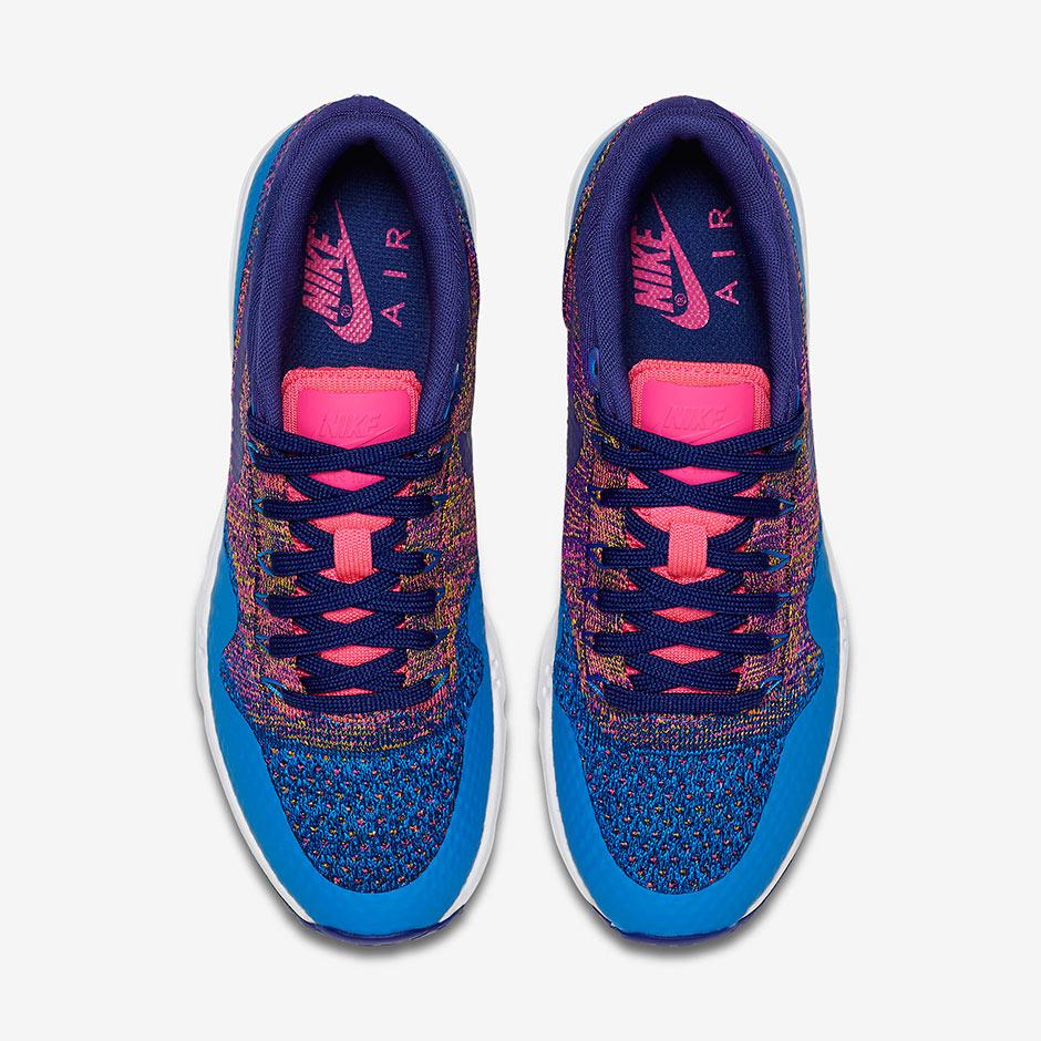 Para Mujer De Color Rosa Nike Air Max Flyknit Multicolor 4YM7O7
