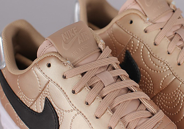 The Nike Air Force 1 Upstep Gets Golden For Women
