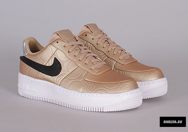 Nike Femmes Air Force 1 Or