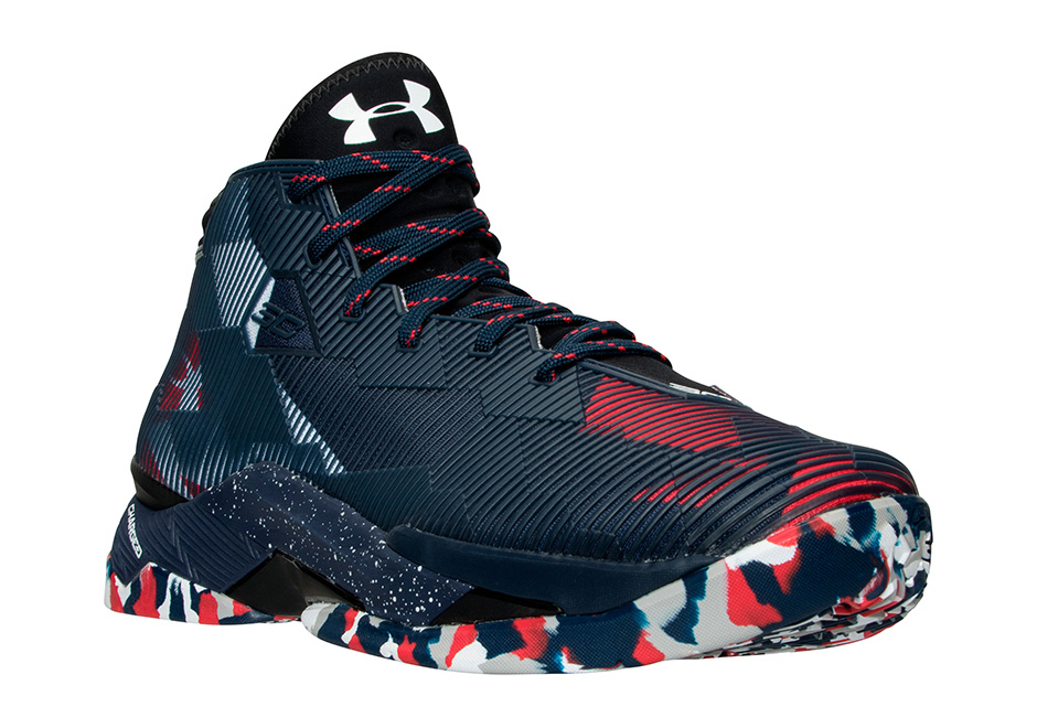 Steph Curry Shoes Blue Red And White